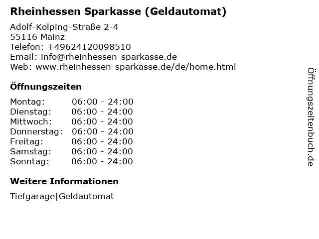 Sparkasse Mainz - (Geldautomat Römerpassage Mainz) in Mainz: Adresse und Öffnungszeiten