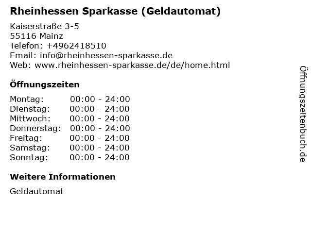 Sparkasse Mainz - (Geldautomat Stadthaus) in Mainz: Adresse und Öffnungszeiten