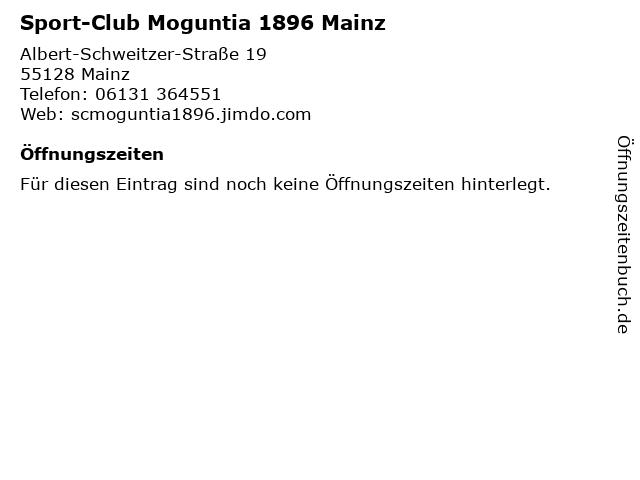 Sport-Club Moguntia 1896 Mainz in Mainz: Adresse und Öffnungszeiten