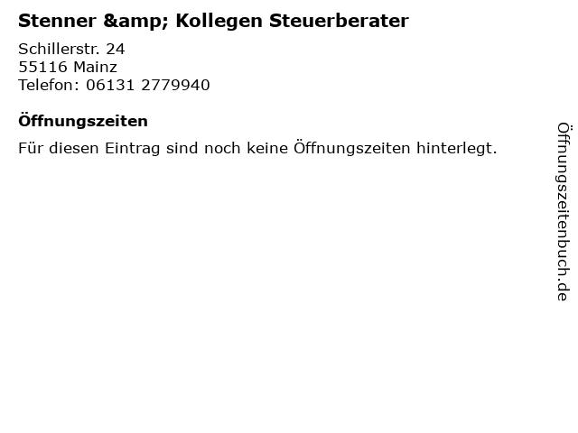 Stenner & Kollegen Steuerberater in Mainz: Adresse und Öffnungszeiten