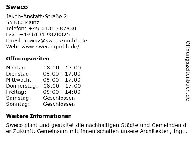Sweco in Mainz: Adresse und Öffnungszeiten