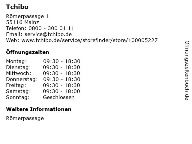 Tchibo GmbH in Mainz: Adresse und Öffnungszeiten