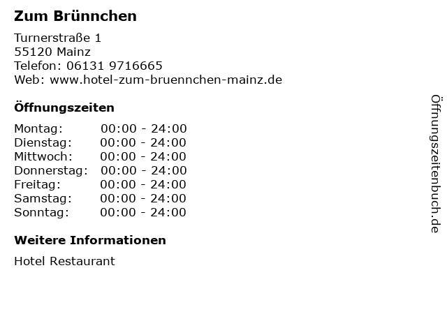 Zum Brünnchen in Mainz: Adresse und Öffnungszeiten