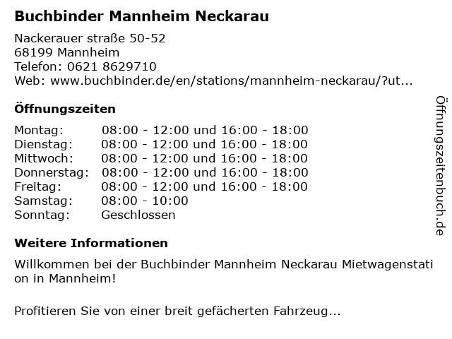 Buchbinder Mannheim Neckarau in Mannheim: Adresse und Öffnungszeiten