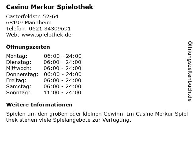 Merkur Spielothek Г¶ffnungszeiten Feiertage