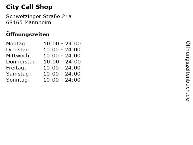 City Call Shop in Mannheim: Adresse und Öffnungszeiten