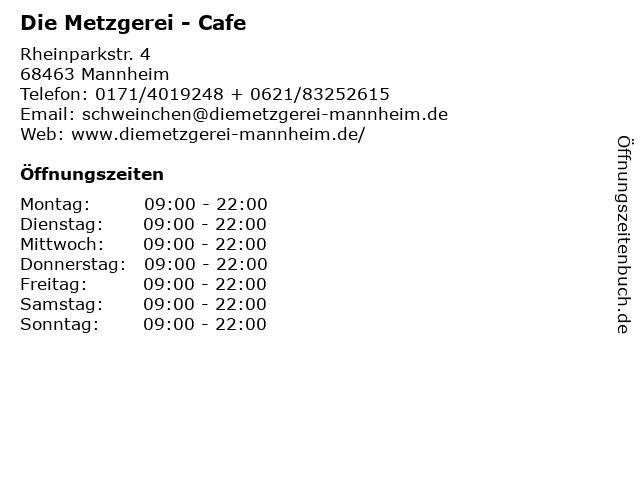 Die Metzgerei - Cafe in Mannheim: Adresse und Öffnungszeiten