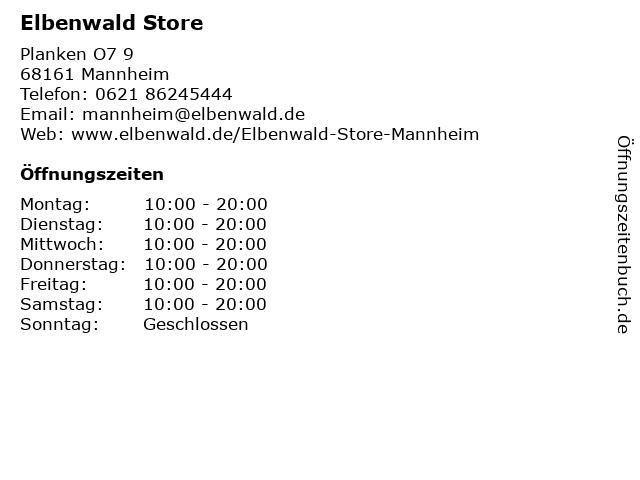 Elbenwald Store in Mannheim: Adresse und Öffnungszeiten