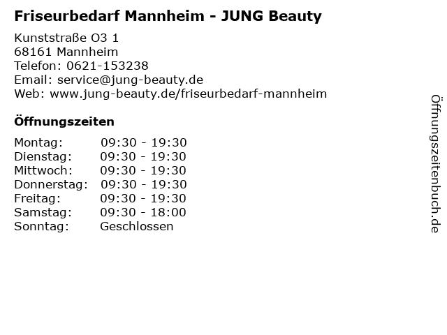 Friseurbedarf Mannheim - JUNG Beauty in Mannheim: Adresse und Öffnungszeiten