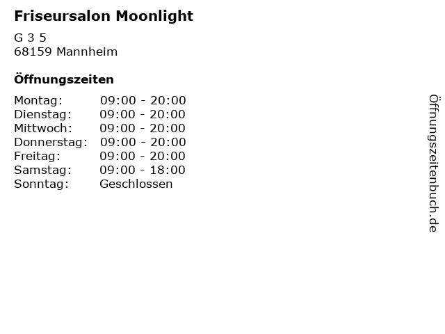 Friseursalon Moonlight in Mannheim: Adresse und Öffnungszeiten