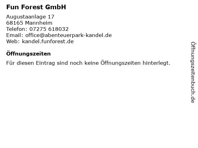 Fun Forest GmbH in Mannheim: Adresse und Öffnungszeiten