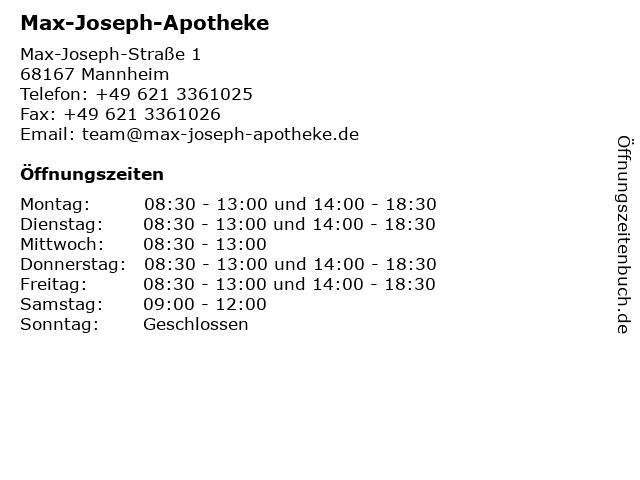 Novotny Apotheke in Mannheim: Adresse und Öffnungszeiten