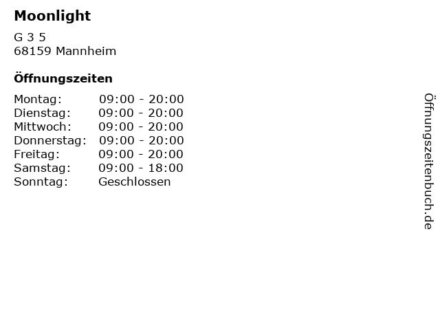 Moonlight in Mannheim: Adresse und Öffnungszeiten