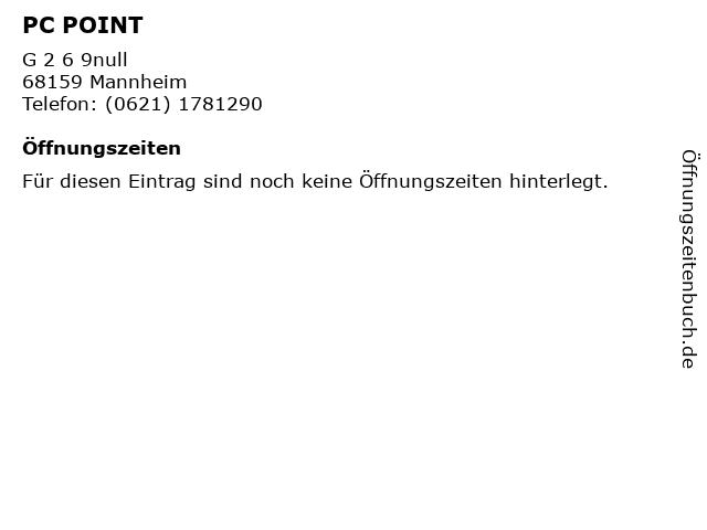 PC POINT in Mannheim: Adresse und Öffnungszeiten