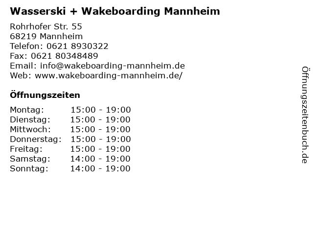 wasserski mannheim