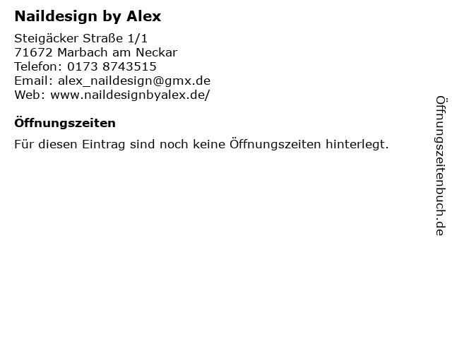 Naildesign by Alex in Marbach am Neckar: Adresse und Öffnungszeiten