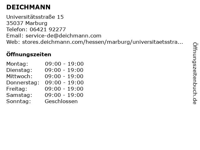 Deichmann Schuhe in Marburg: Adresse und Öffnungszeiten