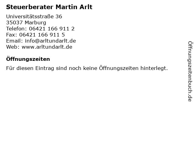 Steuerberater Martin Arlt in Marburg: Adresse und Öffnungszeiten