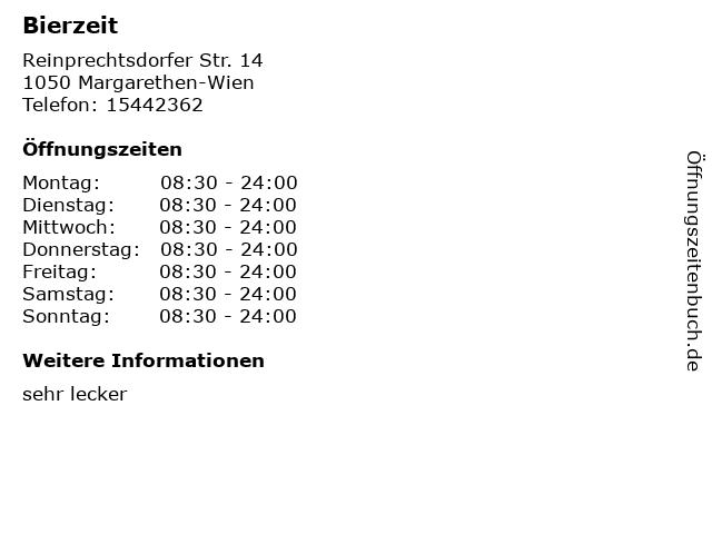 Bierzeit in Margarethen-Wien: Adresse und Öffnungszeiten