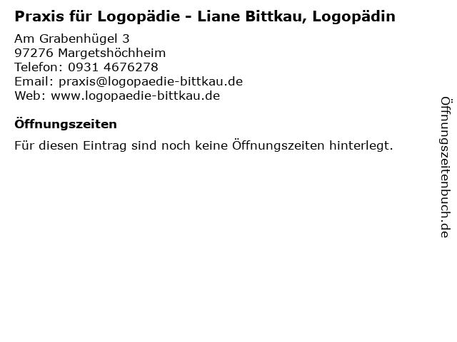 Praxis für Logopädie - Liane Bittkau, Logopädin in Margetshöchheim: Adresse und Öffnungszeiten