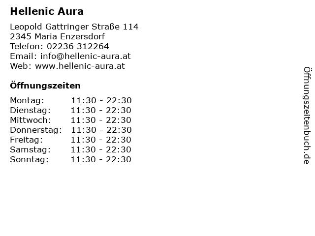 Hellenic Aura in Maria Enzersdorf: Adresse und Öffnungszeiten