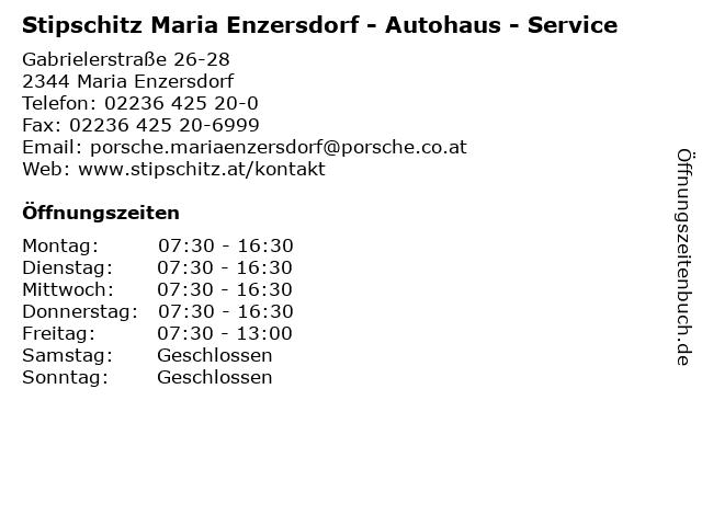 Stipschitz Maria Enzersdorf - Autohaus - Service in Maria Enzersdorf: Adresse und Öffnungszeiten