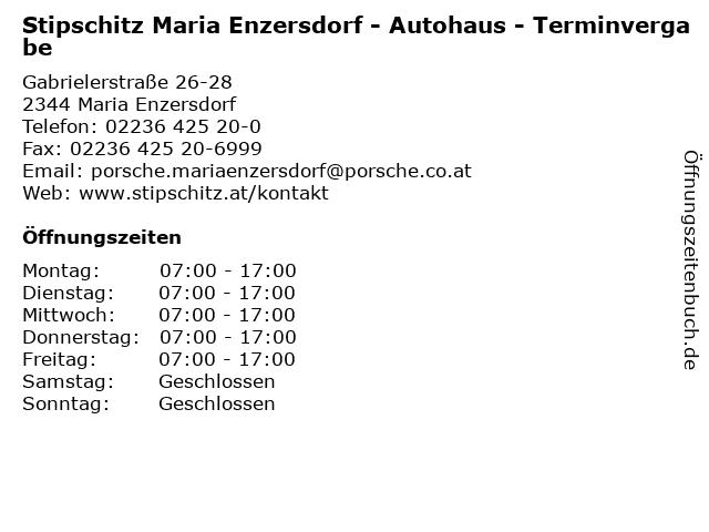 Stipschitz Maria Enzersdorf - Autohaus - Terminvergabe in Maria Enzersdorf: Adresse und Öffnungszeiten
