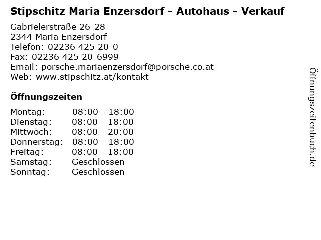 Stipschitz Maria Enzersdorf - Autohaus - Verkauf in Maria Enzersdorf: Adresse und Öffnungszeiten