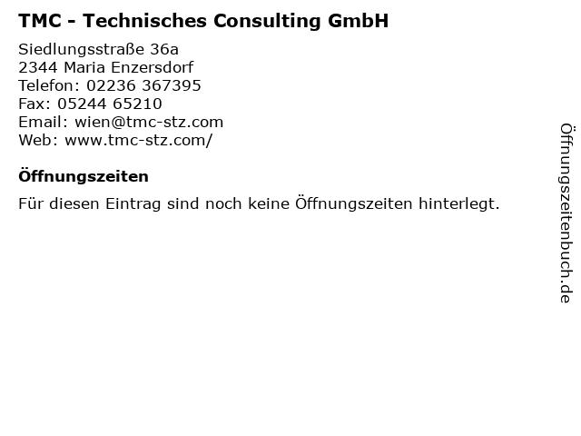 TMC - Technisches Consulting GmbH in Maria Enzersdorf: Adresse und Öffnungszeiten