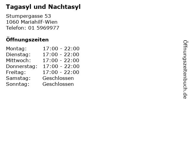 Tagasyl und Nachtasyl in Mariahilf-Wien: Adresse und Öffnungszeiten