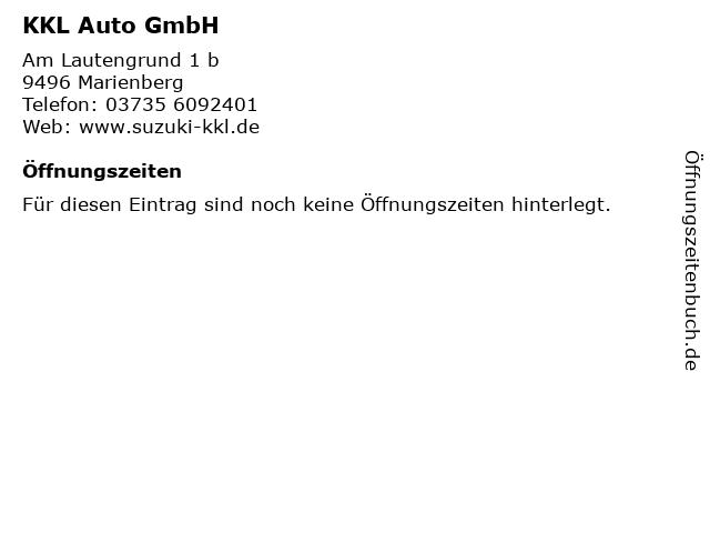 KKL Auto GmbH in Marienberg: Adresse und Öffnungszeiten