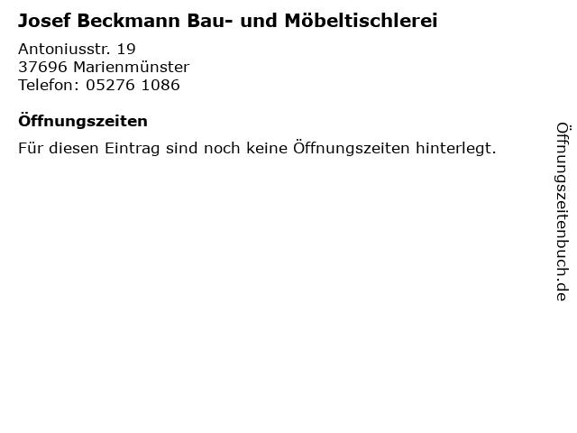 Josef Beckmann Bau- und Möbeltischlerei in Marienmünster: Adresse und Öffnungszeiten
