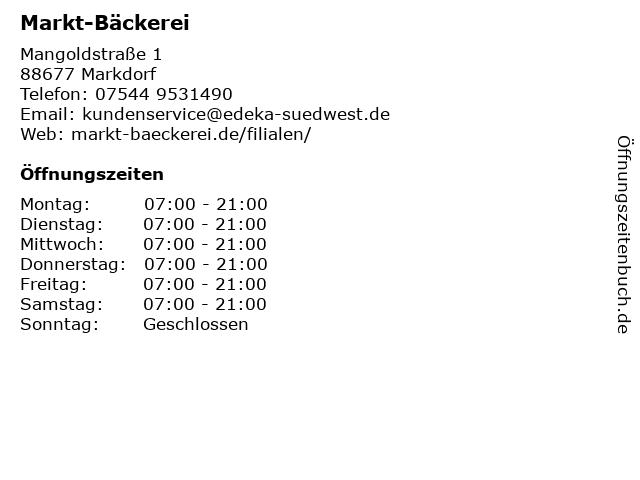 K & U Bäckerei in Markdorf: Adresse und Öffnungszeiten