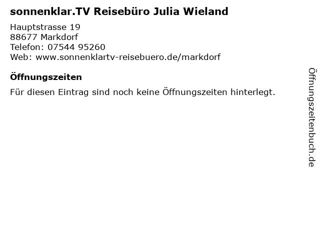 Sonnenklar Reisebüro in Markdorf: Adresse und Öffnungszeiten