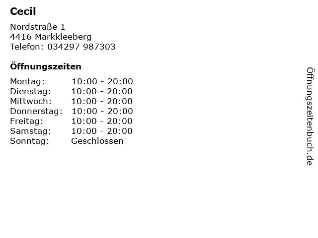 Cecil in Markkleeberg: Adresse und Öffnungszeiten