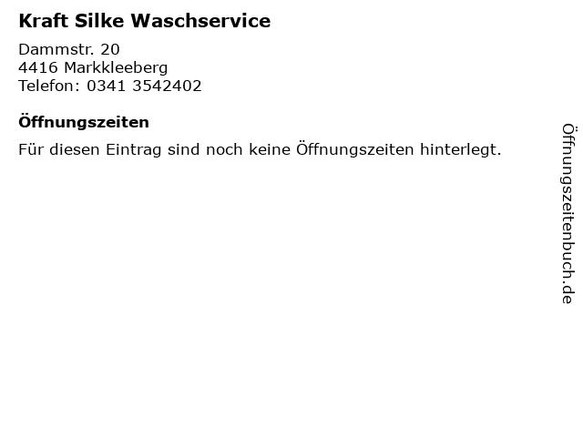 Kraft Silke Waschservice in Markkleeberg: Adresse und Öffnungszeiten