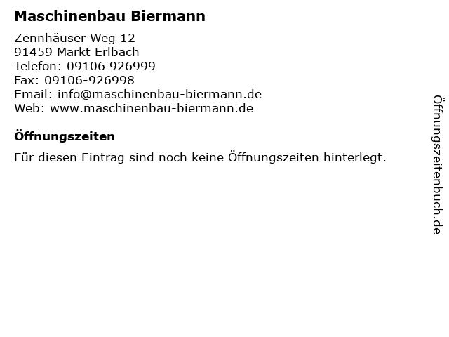 Maschinenbau Biermann in Markt Erlbach: Adresse und Öffnungszeiten