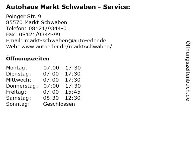 Autohaus Markt Schwaben - Service: in Markt Schwaben: Adresse und Öffnungszeiten