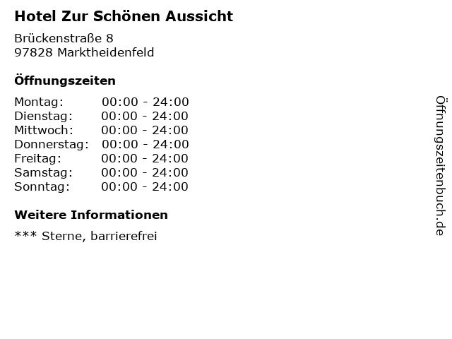 ᐅ Offnungszeiten Hotel Zur Schonen Aussicht Bruckenstrasse 8 In