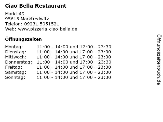 ciao bella marktredwitz