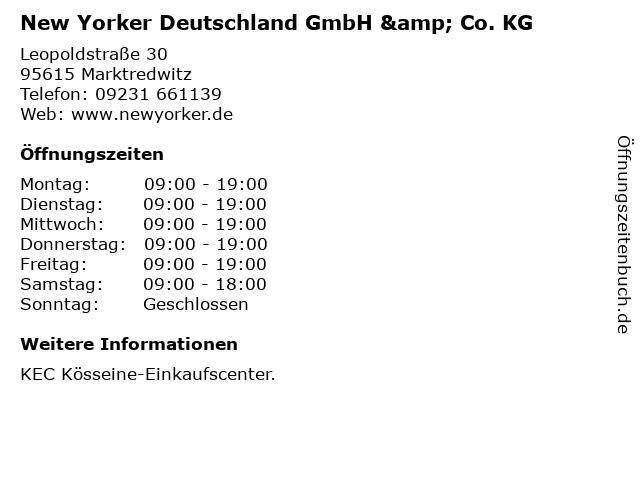 New Yorker Deutschland GmbH & Co. KG in Marktredwitz: Adresse und Öffnungszeiten