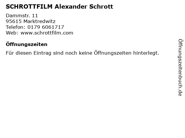 SCHROTTFILM Alexander Schrott in Marktredwitz: Adresse und Öffnungszeiten