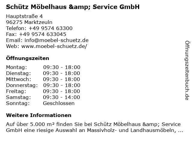 ᐅ Offnungszeiten Mobelhaus Schutz Hauptstrasse 4 In Marktzeuln