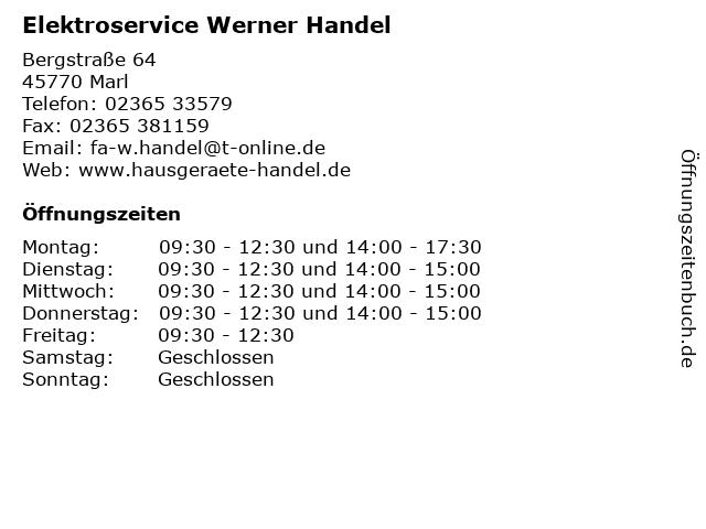 Elektroservice Werner Handel in Marl: Adresse und Öffnungszeiten