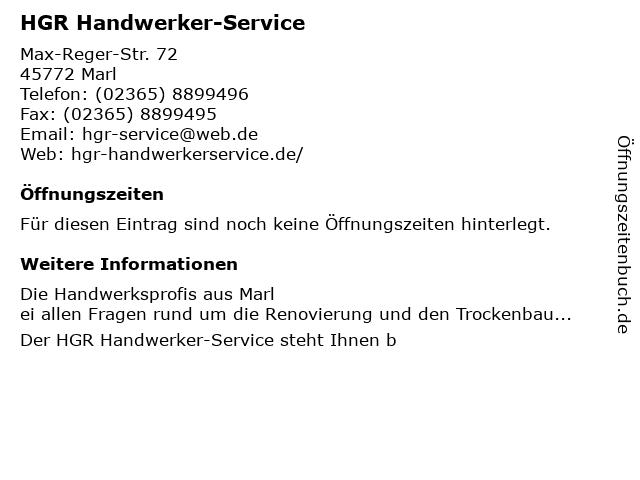 HGR Handwerker-Service in Marl: Adresse und Öffnungszeiten
