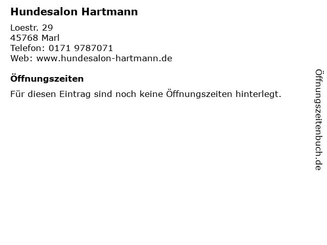 Hundesalon Hartmann in Marl: Adresse und Öffnungszeiten