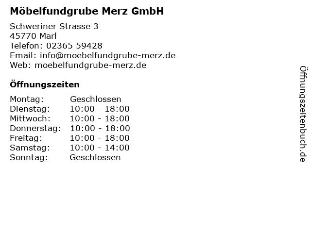 ᐅ öffnungszeiten Möbelfundgrube Merz Gmbh Schweriner Str 3 In Marl