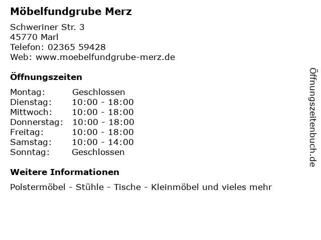 ᐅ öffnungszeiten Möbelfundgrube Merz Schweriner Str 3 In Marl