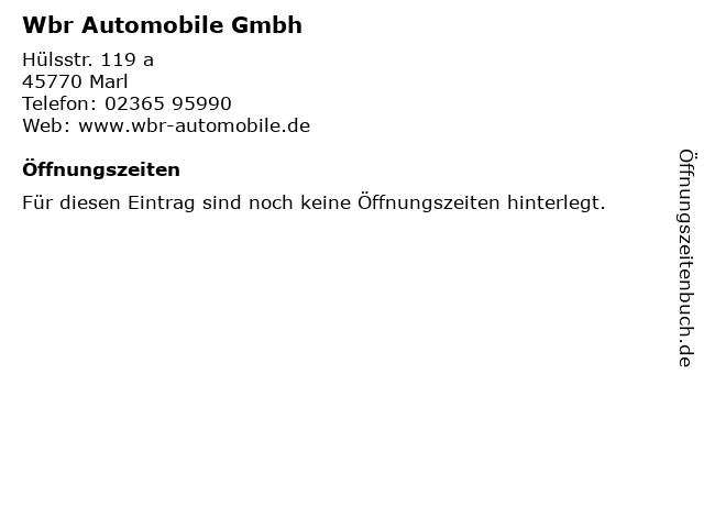 Wbr Automobile Gmbh in Marl: Adresse und Öffnungszeiten