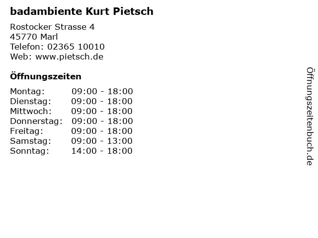badambiente Kurt Pietsch in Marl: Adresse und Öffnungszeiten